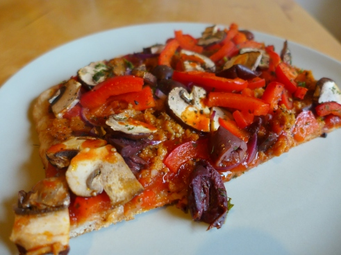 Pizza ohne Käse