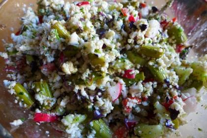 Falscher Couscous Salat